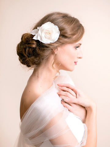 Bridal Rose Hair Piece