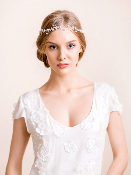 Bridal Hair Vine of Freshwater Pearls