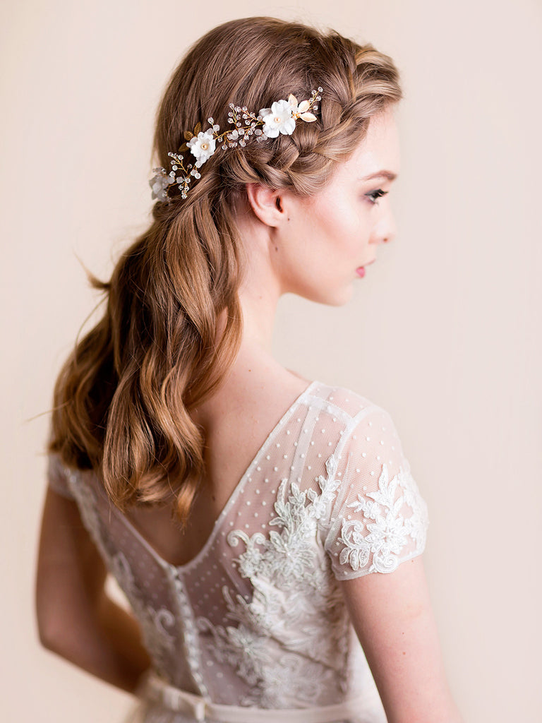Flower Headpiece | IRIS & CRYSTAL