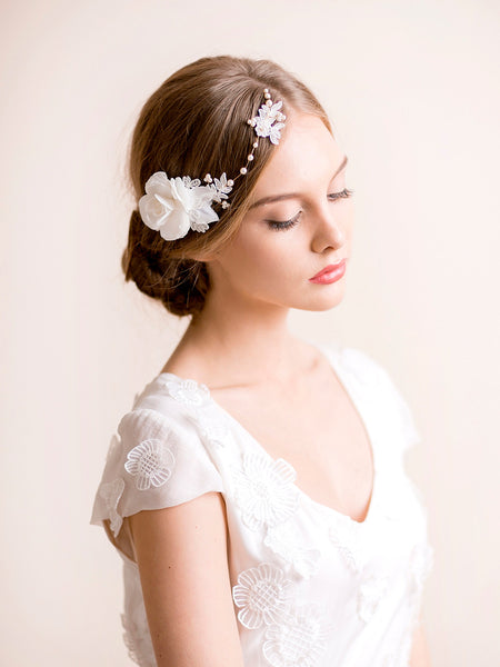 Gardenia Flower Headpiece
