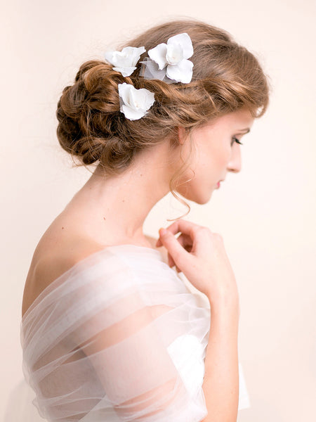 Bridal Hair Pins Iris Flower