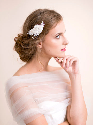 Bridal Lace Hair Clip