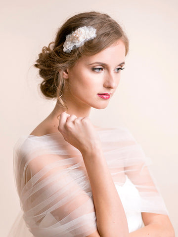 Embroidered Wedding Hairpiece