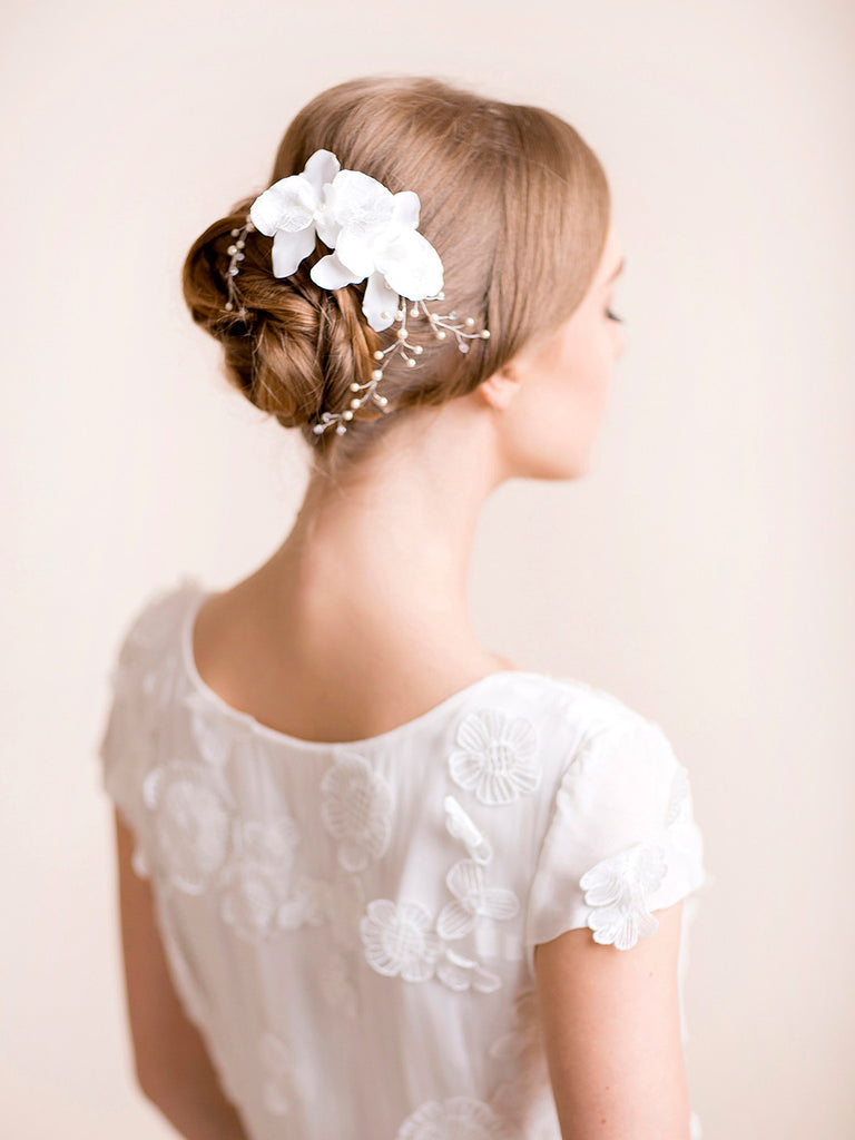Wedding Headpiece with Orchids