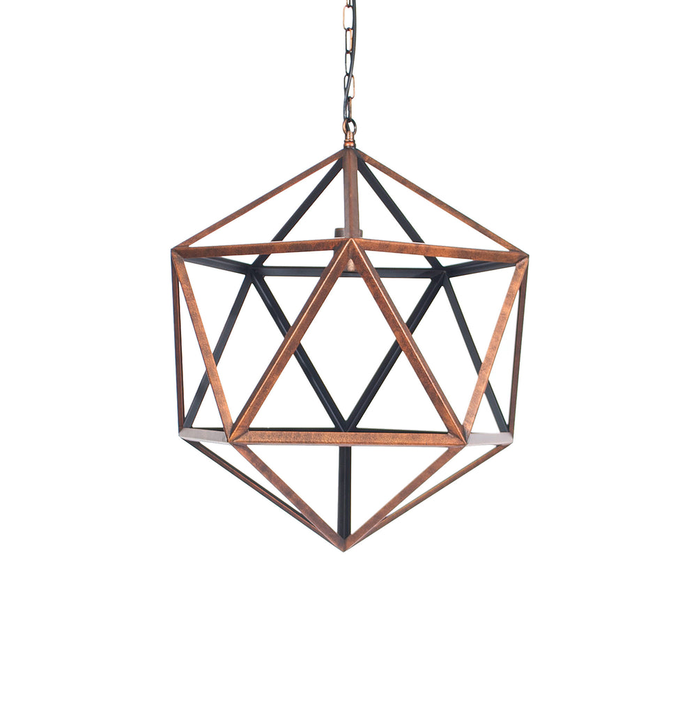 Copper Geometric Pendant