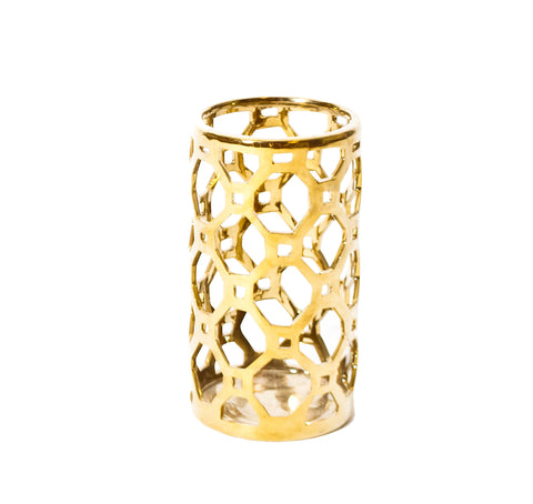 Gold Cutout Candle Holder