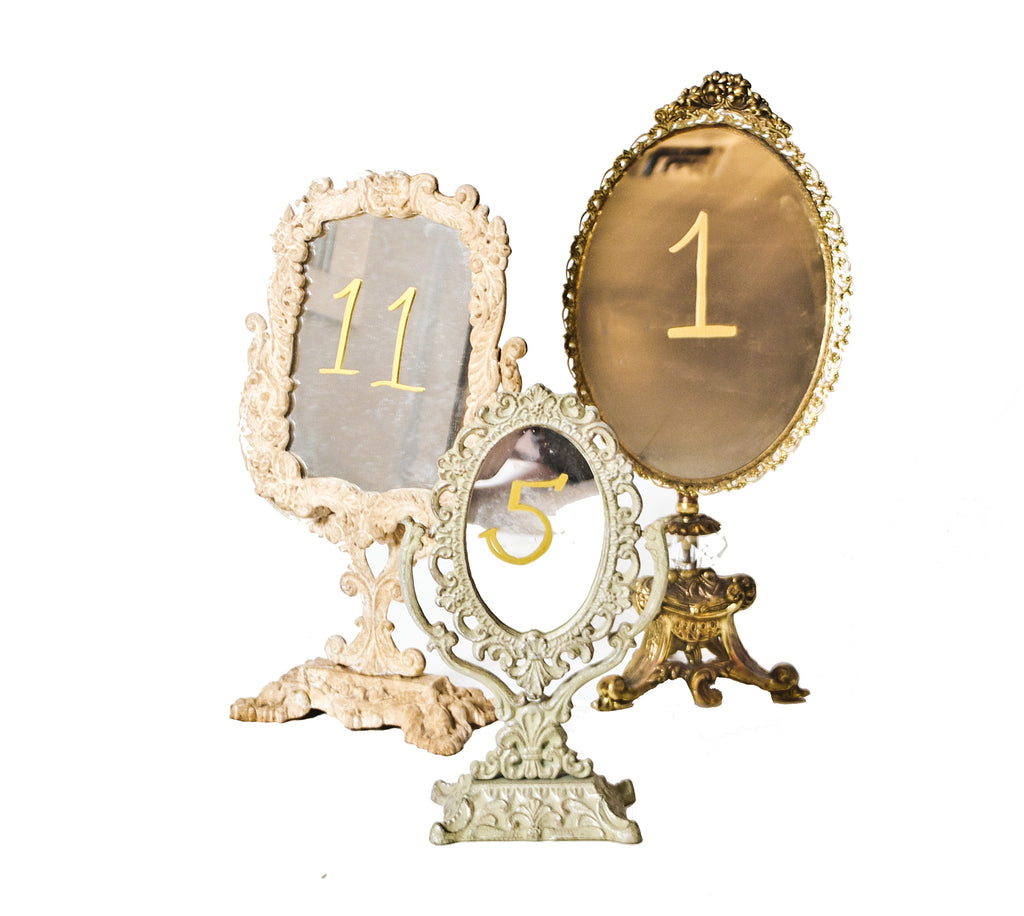 Vanity Mirror Table Numbers