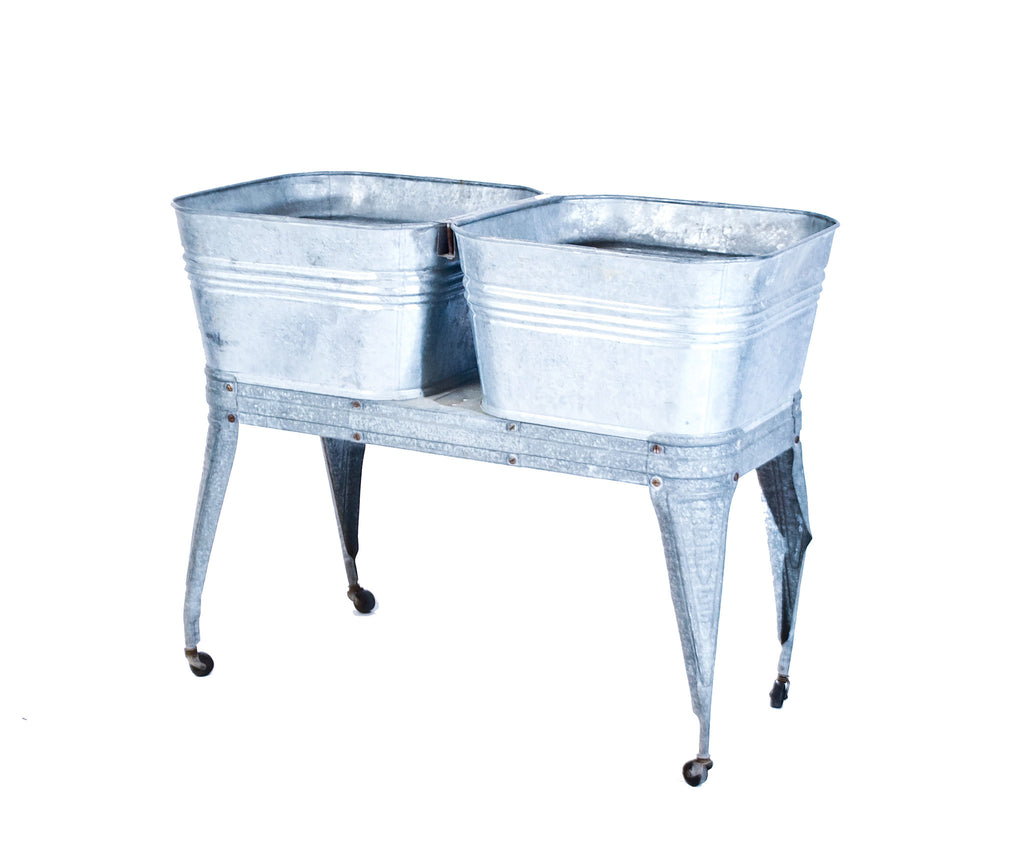 Vintage Double Galvanized Tub