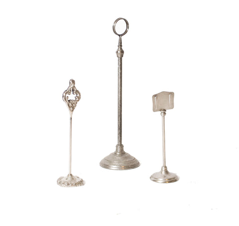 Antique Silver Table Stanchion