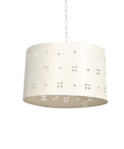 Ivory Punched Tin Drumshade
