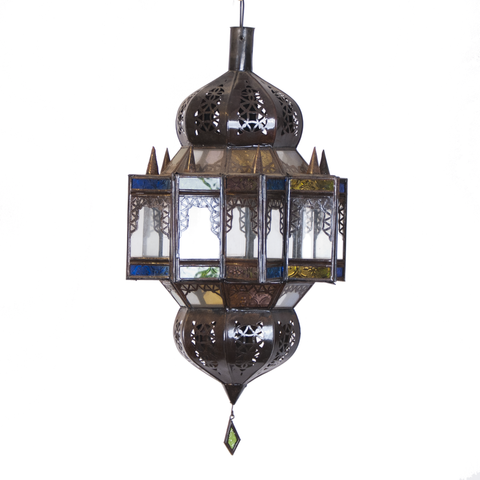 Moroccan Stained Glass Chandelier