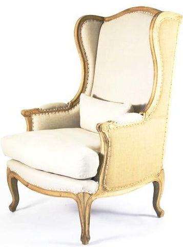 chair, chairs, chairs for rent, rental items, furniture for rent, event planning, ooh events, burlap and linen wingback chair, burlap wingback chair, wingback and linen wingback
