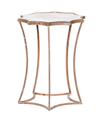Gold Metal Starburst Side Table