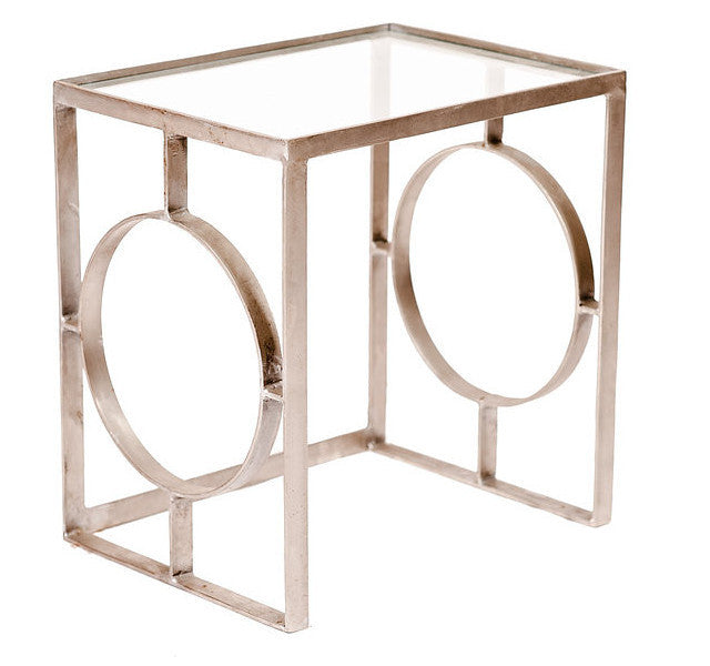 Silver Cutout Side Table