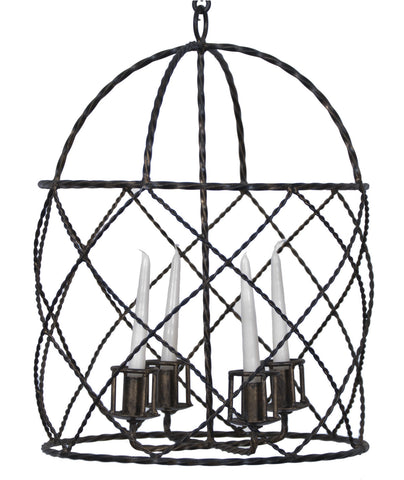 Black Basket Candelabra