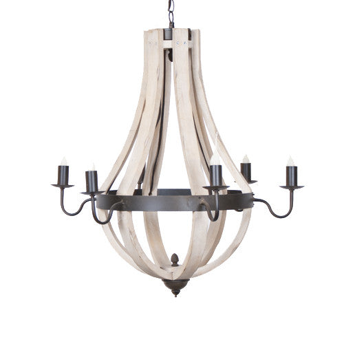 Wine Barrel Candelabra Chandelier