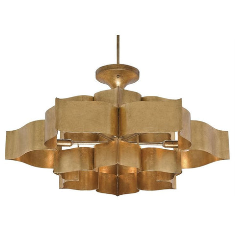 Gold Leaf 3-Tier Drumshade