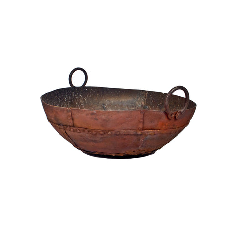Rustic Firepit with Handles