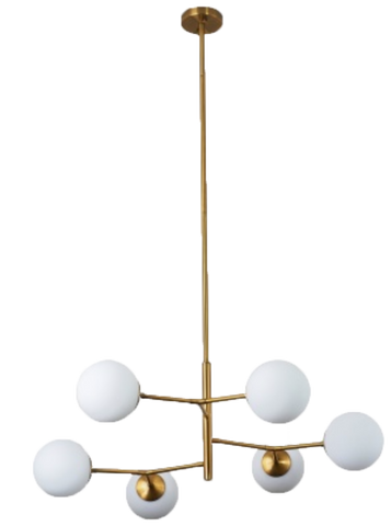 bailey chandelier, funky chandelier, modern chandelier, gold and white chandelier, chandelier for rent