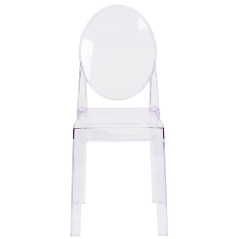 lucite chair, lucite ghost chair, ghost chair, armless ghost chair