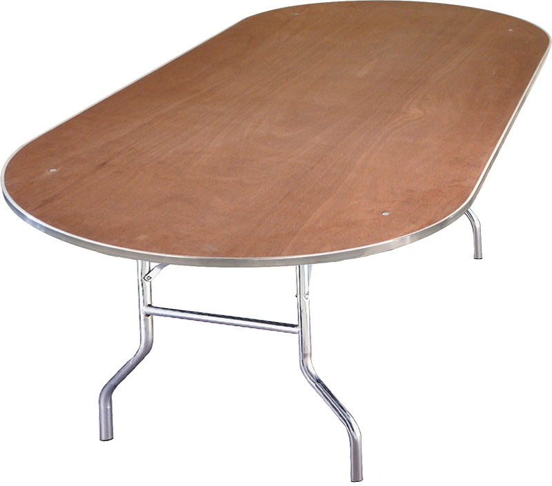 8ft Oval Folding Table