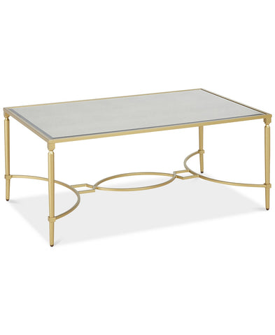 gold coffee table, gold art deco coffee table, art deco gold coffee table for rent
