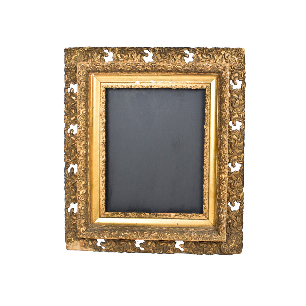 ornate gold frame chalkboard