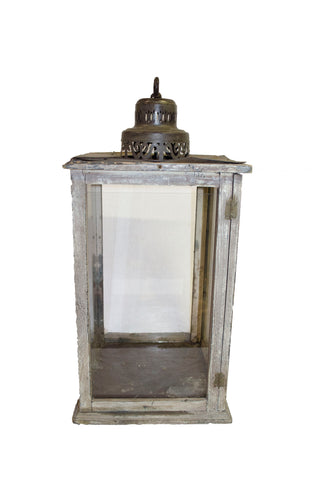 Distressed Wooden Carriage Lantern