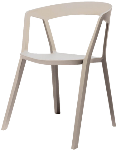 Almond Stacking Chair