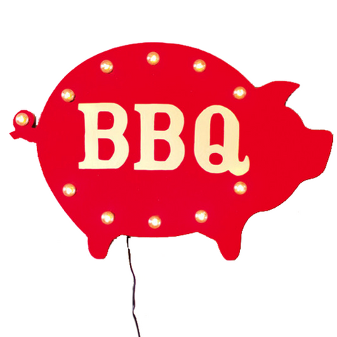 Red BBQ Sign