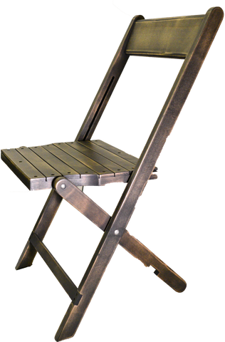folding chair, black washed folding wooden chait