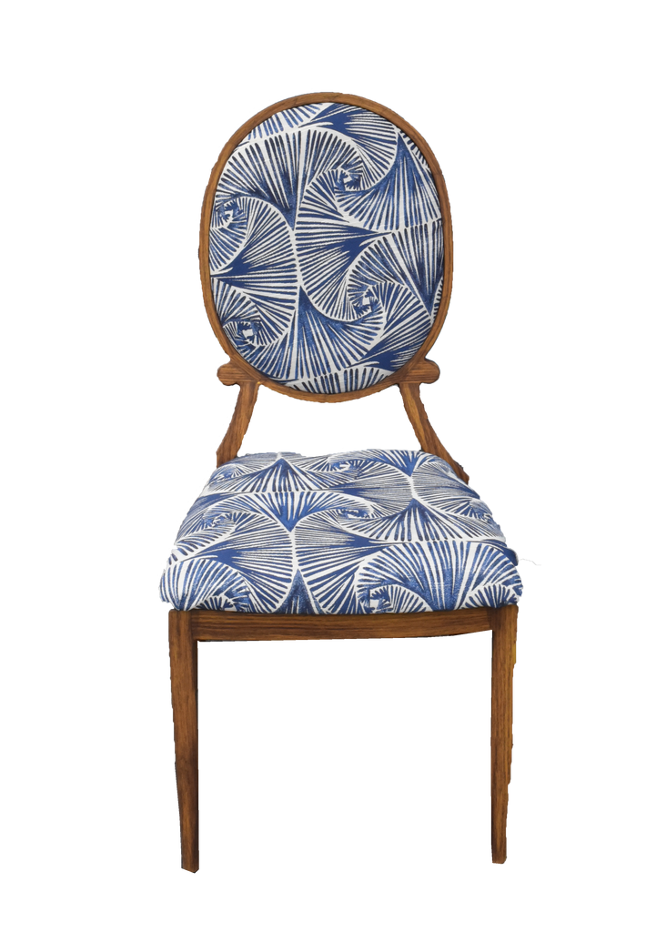 chair, chairs, chairs for rent, rental items, furniture for rent, event planning, ooh events, carolina blues chair, awendaw blue chair, sullivans blue cjair, edisto blue chair, pawleys blue chair, blue patterned dining chairs,