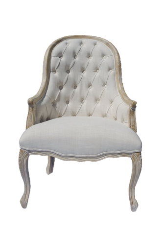 chair, chairs, chairs for rent, rental items, furniture for rent, event planning, ooh events, carla chair, linen tufted chair, tufted chair with high rounded back
