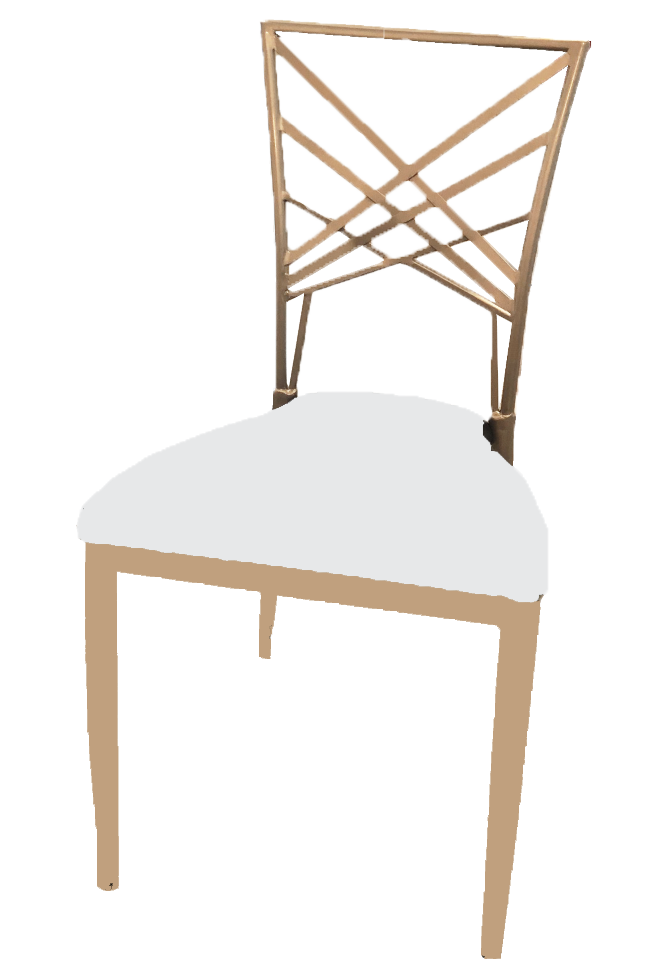 Champagne Gold Metal Chair