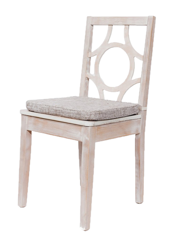 Whitewash Circle Back Chair