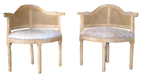 jillian chairs, rustic animal hide chair with cane back, wood and hide chair, lounge chair, lounge chair for rent, charleston event rentals, event rentals, ooh events