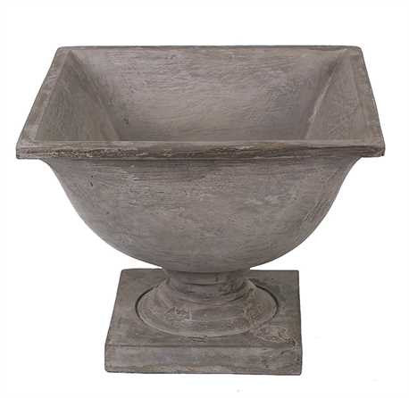 Cement Square Urn