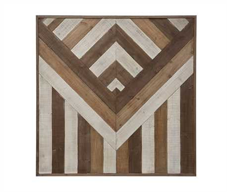 Square Pieced Wood Decor