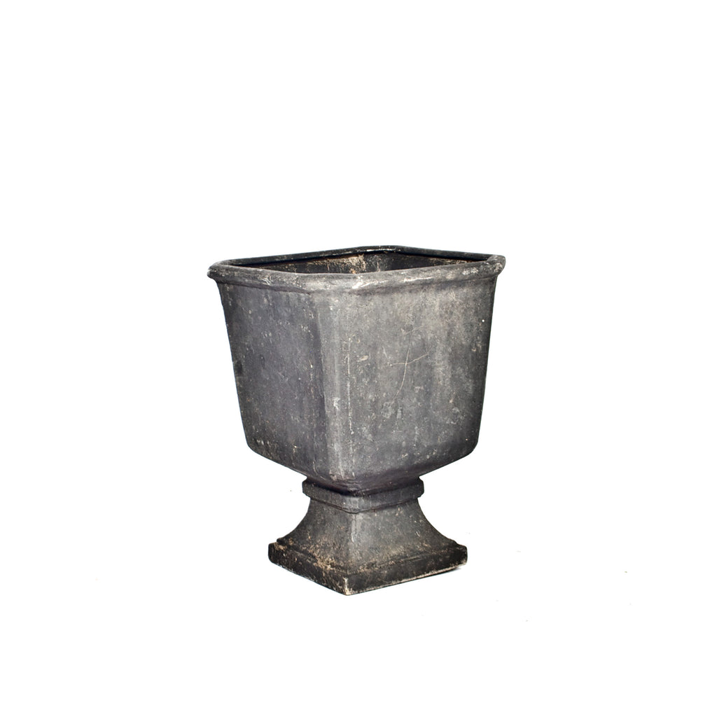 Paint Splatter Footed Urn