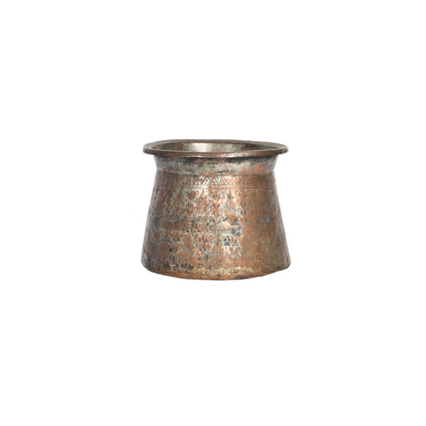 Etched Copper Pot