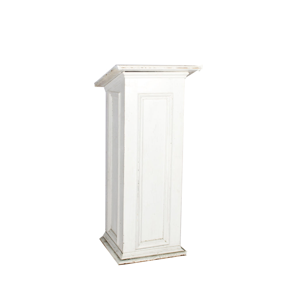 White Wooden Podium