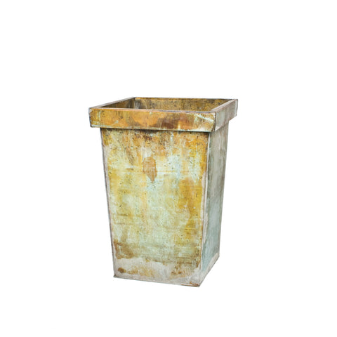 Green Patina Planter