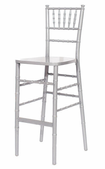 chair, ceremony seating, dining seating, wedding seating, chairs, rental chairs, chairs for rent, charleston, wedding rentals, silver chivari barstool, silver barstool, barstool, silver chivari chair