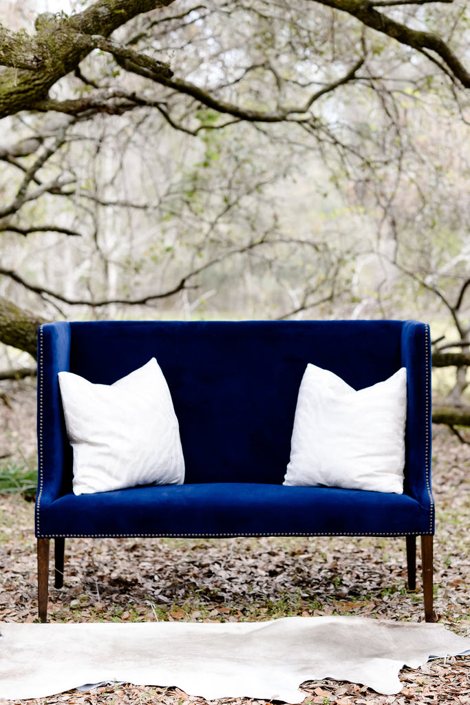 Navy Club Loveseat