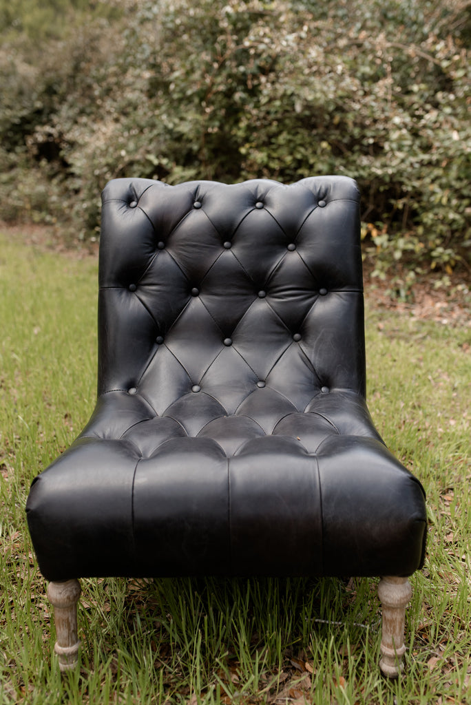 Derrold Tufted Leather Chair