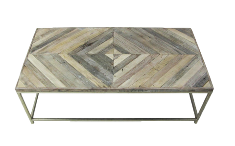 Diamond Inlaid Coffee Table