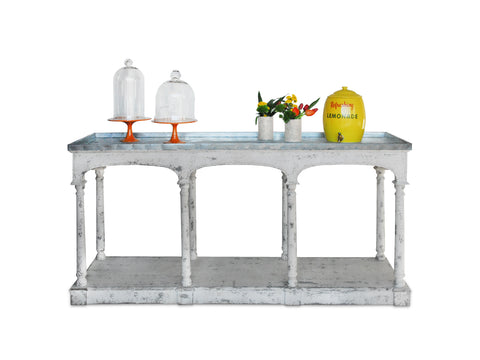 Distressed White Column Bar