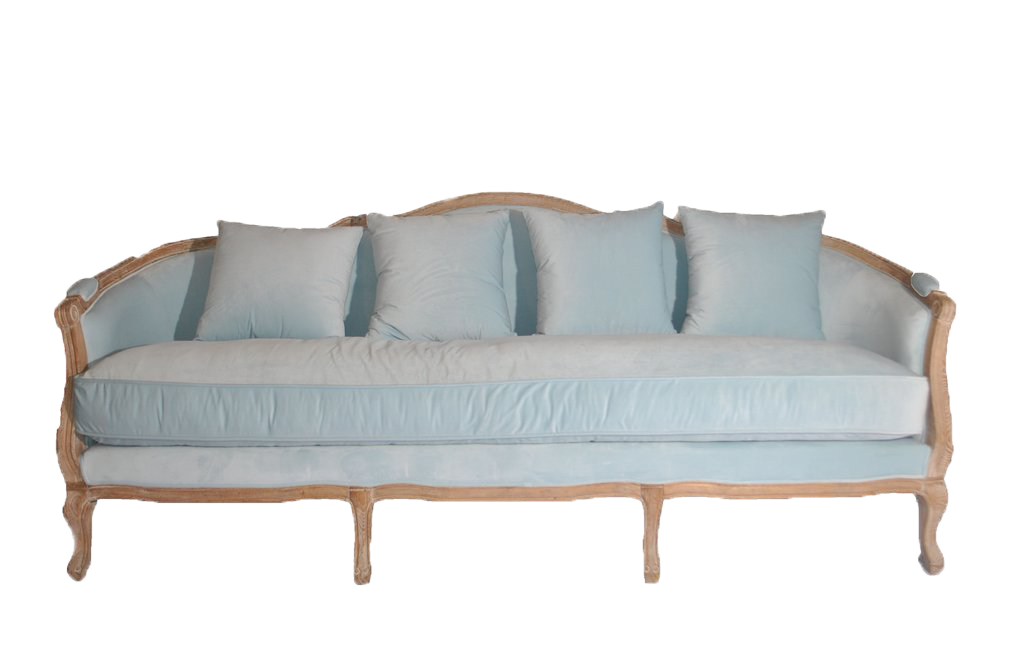 sofa, couch, sofa for rent, rental items, furniture for rent, event planning, ooh events, ooh events couch, ooh events sofa, baby blue sofa, velvet sofa, blue velvet sofa