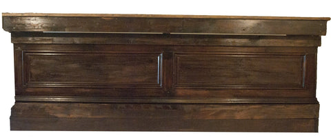 Dark Mahogany Raised Panel Bar