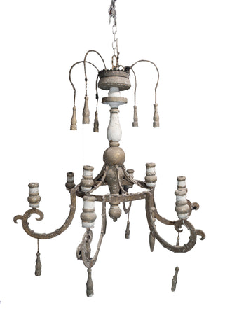 Antique Wooden Tassel Chandelier